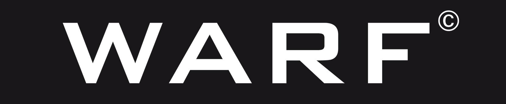 Das hier ist das wunderschöne Logo von der Agentur WARF.